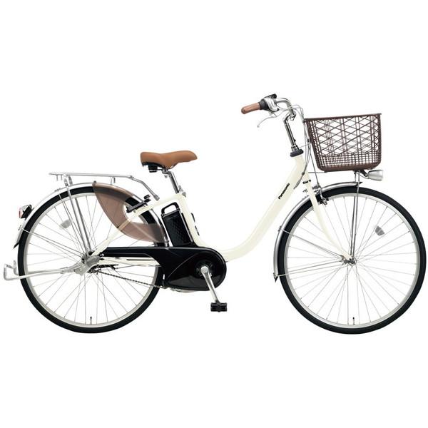 【送料無料】PANASONIC BE-ELLU432-F オフホワイト ビビ・LU [電動自転車(24インチ・内装3段変速)]【同梱配送不可】【代引き不可】【本州以外配送不可】