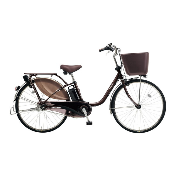【送料無料】PANASONIC BE-ELKD43-T ビターブラウン ビビKD [電動アシスト自転車(24インチ・内装3段)]【同梱配送不可】【代引き不可】【本州以外配送不可】