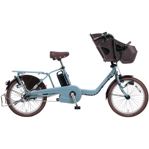 【送料無料】PANASONIC BE-ELMD034-V マットブルーグレー ギュット・ミニ・DX [電動自転車(20インチ・内装3段変速)]【同梱配送不可】【代引き不可】【本州以外配送不可】