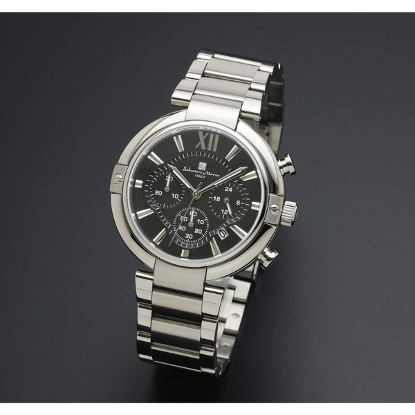 【送料無料】Salvatore Marra SM17106-SSBK [腕時計 (クオーツ・メンズ)]