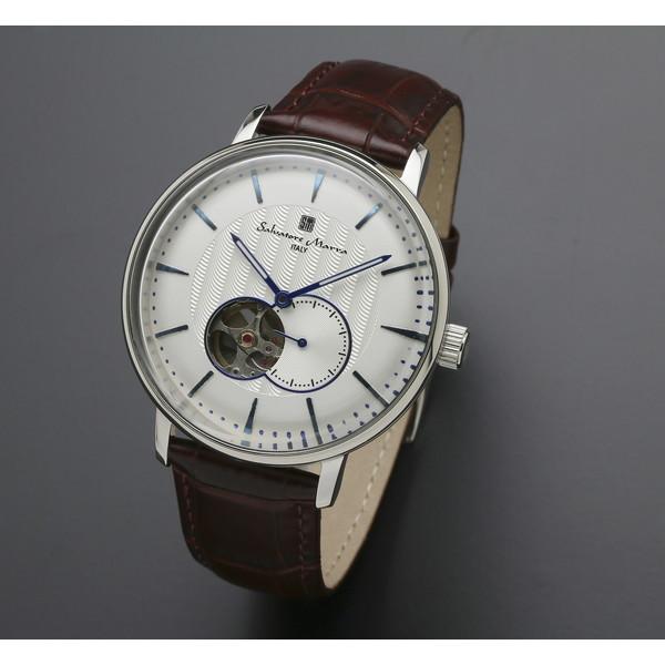 【送料無料】Salvatore Marra SM17114-SSWH ホワイト/シルバー [自動巻き腕時計 (メンズ)]