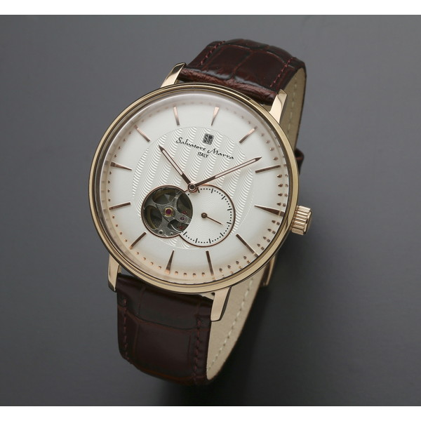 Salvatore Marra SM17114-PGWH ホワイト/ピンクゴールド [自動巻き腕時計 (メンズ)]