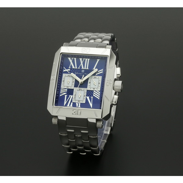 【送料無料】Salvatore Marra SM17117-SSBLSV ブルー/シルバー [クォーツ腕時計 (メンズ)]