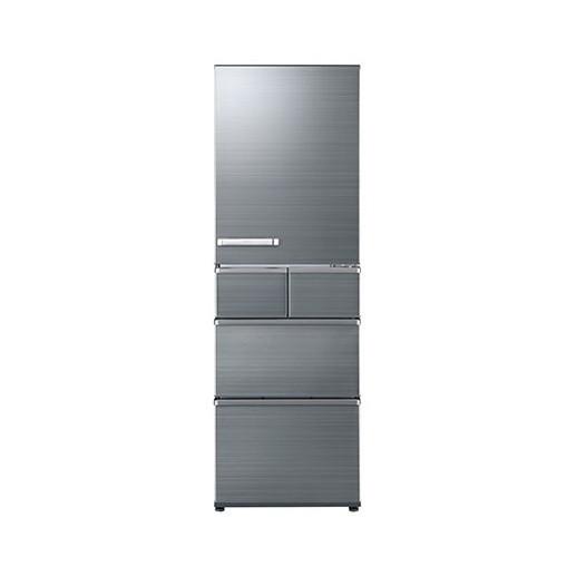 【送料無料】AQUA AQR-SV42G-S チタニウムシルバー [冷蔵庫 (415L・右開き)]