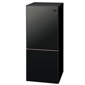 【送料無料】冷蔵庫 シャープ(SHARP) プラズマクラスター 2ドア SJ-GD14D-B ピュアブラック (137L・左右フリー) つけかえどっちもドア おしゃれガラスドア LED庫内灯 シンプルな暮らし すっきりした暮らしに