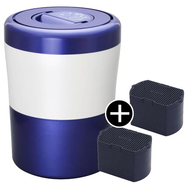 島産業 PCL-31-BWB ブルーストライプ パリパリキューブライト + 脱臭フィルターセット [生ごみ減量乾燥機] 生ごみ処理機 生ゴミ処理機 生ゴミ 肥料
