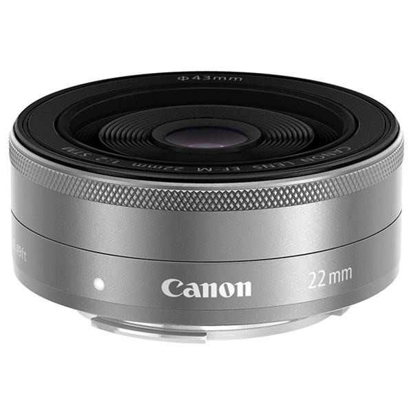【送料無料】CANON EF-M22mm F2 STM シルバー [パンケーキレンズ]