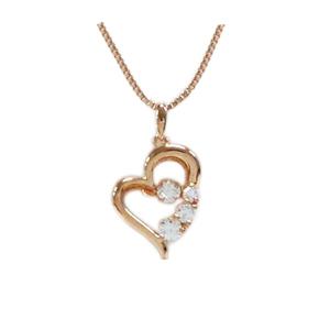 【送料無料】Crossfor New York クロスフォーニューヨーク NYP-585P ピンクゴールドコーティング D-3stone heart [ペンダント]