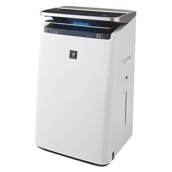 SHARP(シャープ) KI-HP100-W ホワイト系 加湿空気清浄機 (空気清浄~46畳/加湿~26畳まで)加湿/除電/高濃度プラズマクラスターNEXT/COCORO AIR/花粉/脱臭/ウイルス/ホコリ/パワフルショット/PM2.5対応/フィルター自動掃除/AIoT