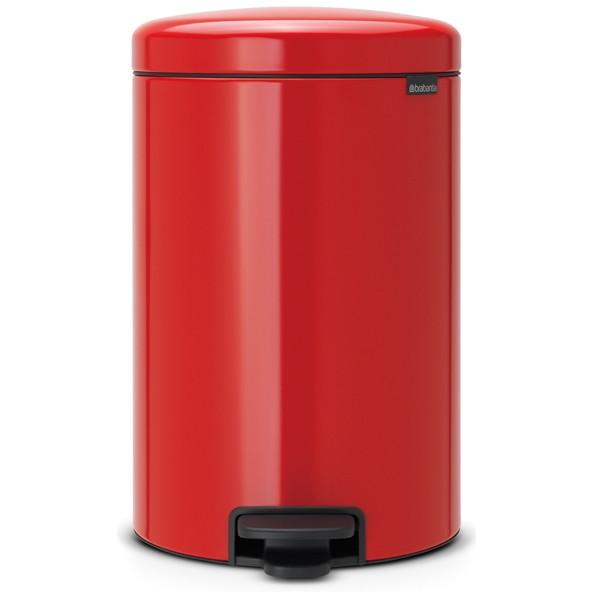 【送料無料】brabantia ペダルビン 20L RED 11860 パッションレッド ニューアイコン