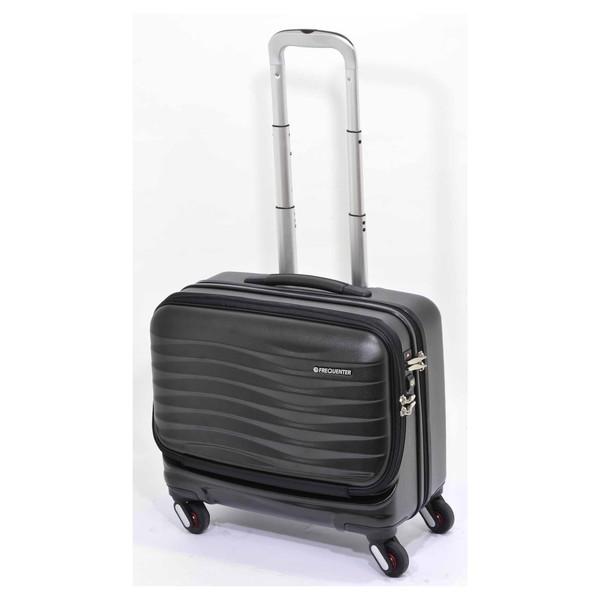 【送料無料】エンドー鞄 1-211-BK FREQUENTER CLAM 横型フロントオープンキャリー クロ [スーツケース(34L)]
