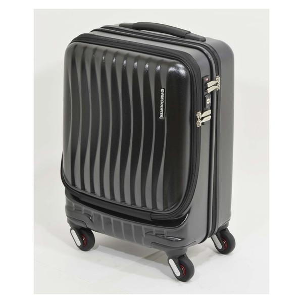 【送料無料】エンドー鞄 1-216-BK FREQUENTER Clam_A ストッパー付フロントオープンキャリー46cm クロ [スーツケース(34L)]