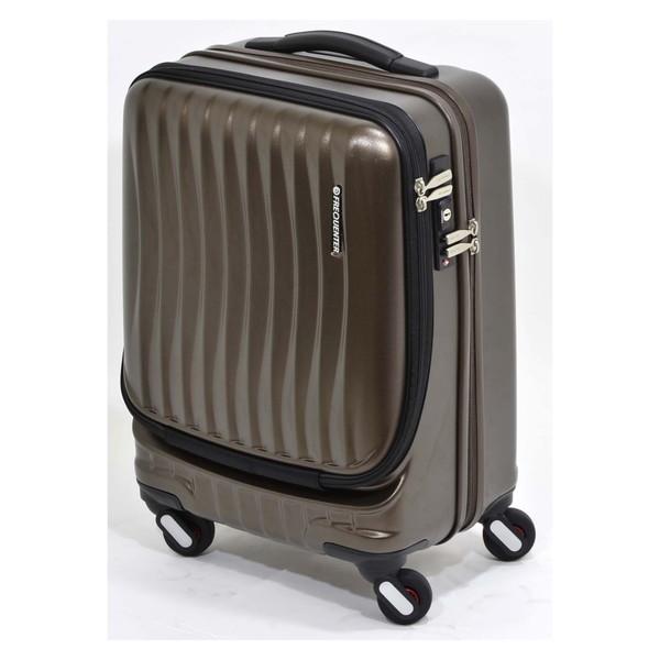 【送料無料】エンドー鞄 1-216-CH FREQUENTER Clam_A ストッパー付フロントオープンキャリー46cm チョコ [スーツケース(34L)]