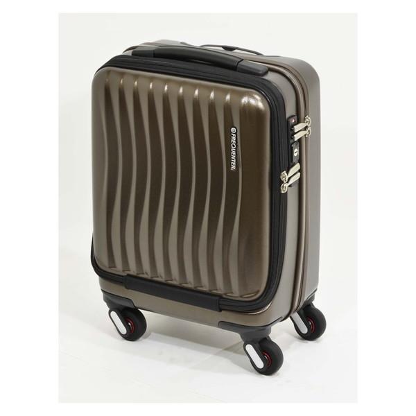 【送料無料】エンドー鞄 1-217-CH FREQUENTER Clam_A ストッパー付フロントオープンキャリー41cm チョコ [スーツケース(23L)]