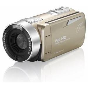 【送料無料】ジョワイユ JOY-F9TCGL ゴールド [フルハイビジョンデジタルビデオカメラ(SDカード・SDHCカード)]