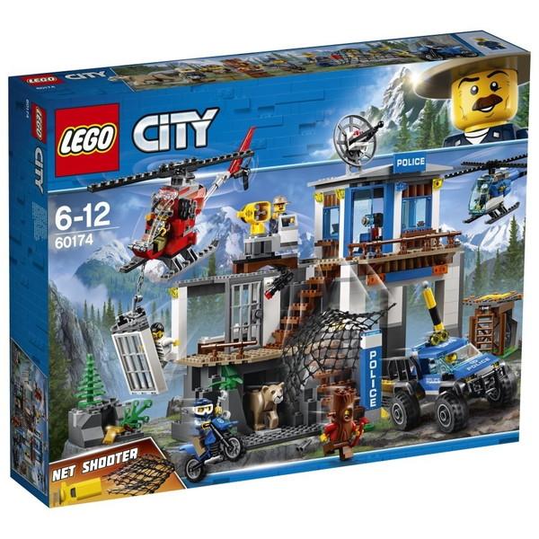 【送料無料】LEGO レゴシティ 山のポリス指令基地 60174