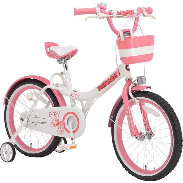 【送料無料】ROYAL BABY RB-WE JENNY 18 pink (37298) [子供用自転車(18インチ)補助輪付き]【同梱配送不可】【代引き不可】【沖縄・離島配送不可】