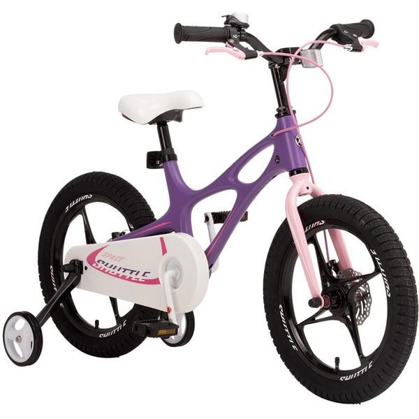 【送料無料】ROYAL BABY RB-WE SPACE SHUTTLE 14 purple (37287) [子供用自転車(14インチ)補助輪付き]【同梱配送不可】【代引き不可】【沖縄・離島配送不可】