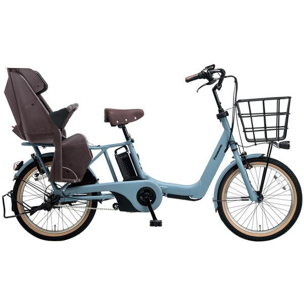 【送料無料】PANASONIC BE-ELA03-V2 マットブルーグレー ギュット・アニーズ・DX [電動自転車(20インチ・内装3段変速)]【同梱配送不可】【代引き不可】【本州以外配送不可】