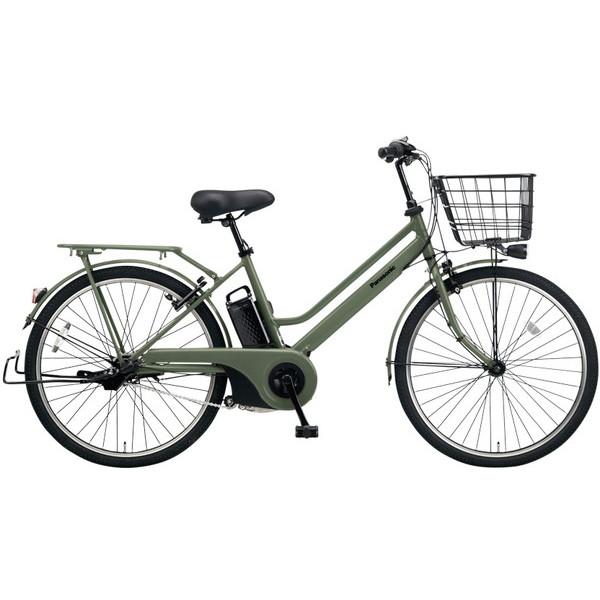 【送料無料】PANASONIC BE-ELST633-G マットオリーブ ティモ・S [電動自転車(26インチ・内装3段変速)]【同梱配送不可】【代引き不可】【本州以外配送不可】