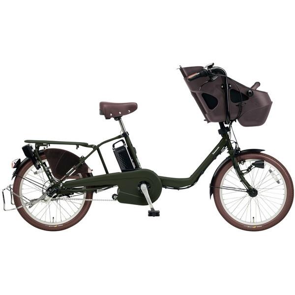 【送料無料】PANASONIC BE-ELM032-G マットダークグリーン ギュット・ミニ・KD [電動自転車(20インチ・内装3段変速)]【同梱配送不可】【代引き不可】【本州以外配送不可】