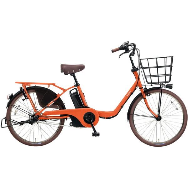 【送料無料】PANASONIC BE-ELMU232-K マットブラッドオレンジ ギュット・ステージ・22 [電動自転車(22インチ・内装3段変速)]【同梱配送不可】【代引き不可】【本州以外配送不可】