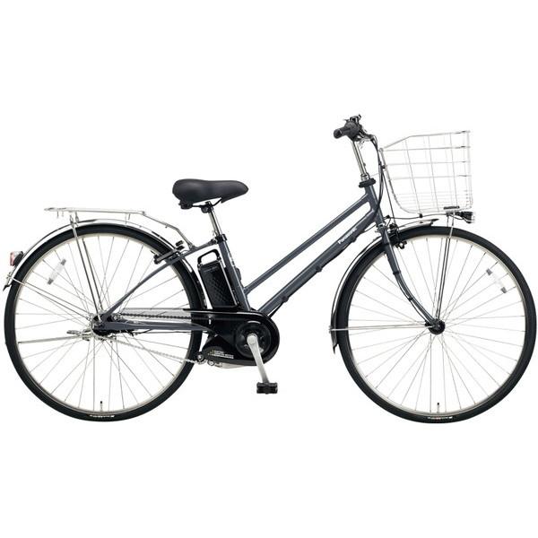 【送料無料】PANASONIC BE-ELET754-N メタリックグレー ティモ・EX [電動自転車(27インチ・内装5段変速)]【同梱配送不可】【代引き不可】【本州以外配送不可】