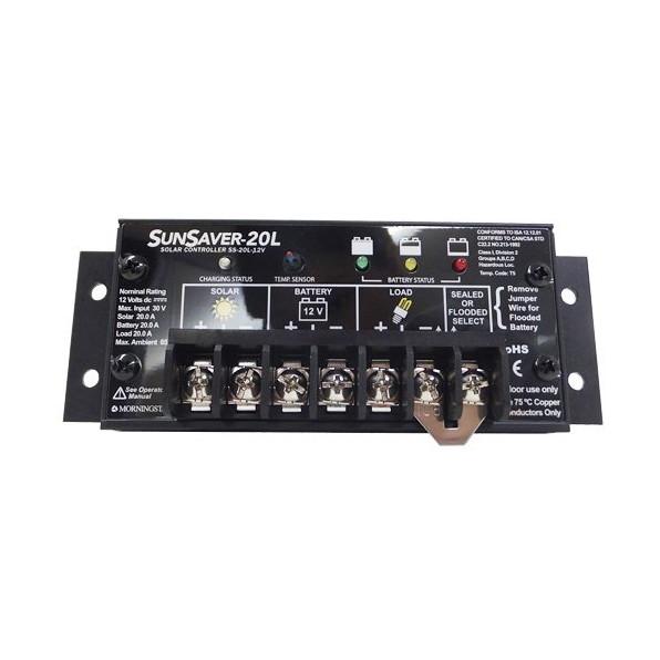 【送料無料】MORNINGSTAR SS20L-12V [ソーラーパネル用 チャージコントローラー 入力12V/20A 充電方式 PWM 基盤防湿タイプ]