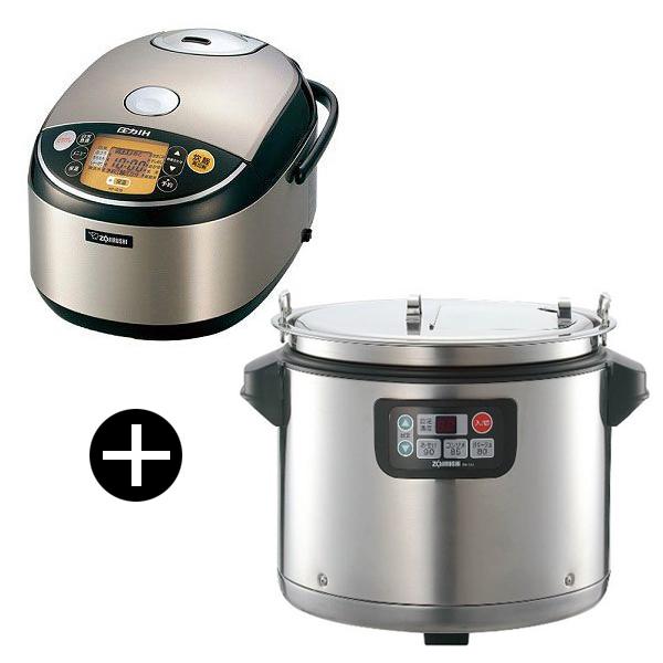 象印 極め炊き 業務用圧力IH炊飯器 (1升炊き) + ステンレス マイコンスープジャー(12.0L) NP-IG18-XA + TH-CU120
