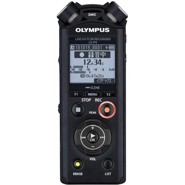【送料無料】OLYMPUS LS-P4 BLK ブラック [ICレコーダー(リニアPCM対応・8GBメモリ内蔵)]