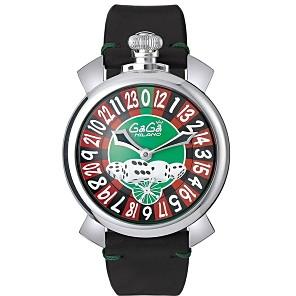 【送料無料】GAGA milano(ガガミラノ) 5010.LV01-BLK MANUALE 48MM LASVEGAS [手巻き腕時計(メンズウオッチ)] 【並行輸入品】