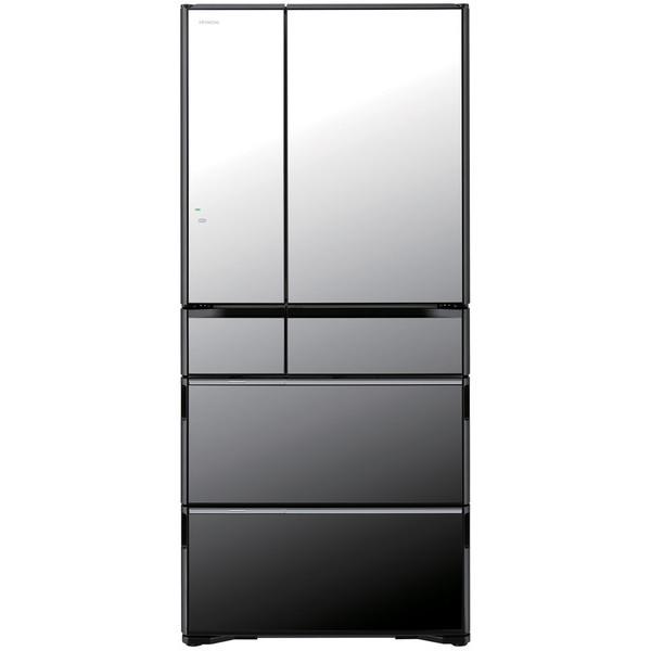 【送料無料】日立 R-WX67J(X) クリスタルミラー 真空チルド ラグジュアリー WXシリーズ [冷蔵庫(670L・フレンチドア)]