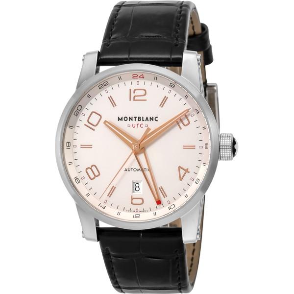 【送料無料】Montblanc(モンブラン) 109136 ホワイト タイムウォーカー ボイジャー UTC [自動巻き腕時計(メンズウオッチ)]
