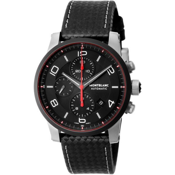 【送料無料】Montblanc(モンブラン) 112604 ブラック タイムウォーカー アーバンスピード [自動巻き腕時計(メンズウオッチ)]