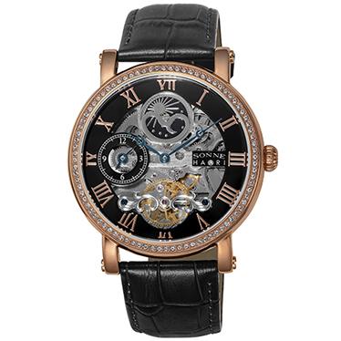 『3年保証』 【送料無料】SONNE H013PGZ-BK ハオリ [腕時計(メンズ)], 木のおもちゃ飛鳥工房 88b5270c