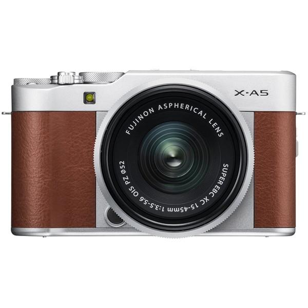 【送料無料】富士フィルム X-A5 レンズキット ブラウン [デジタル一眼カメラ (2424万画素)]