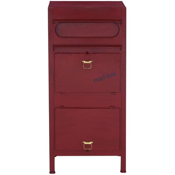 【送料無料】Caleb ポスト 郵便ポスト 置き型ポスト 宅配ボックス 郵便受け スタンドポスト ラージスタンドポスト レッド RD ヤマソロ 73-815