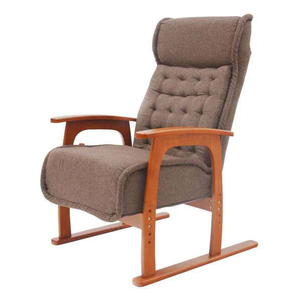 【送料無料】ヤマソロ 83-805 コイル式高座椅子 紅葉 【同梱配送不可】【代引き不可】【沖縄・北海道・離島配送不可】