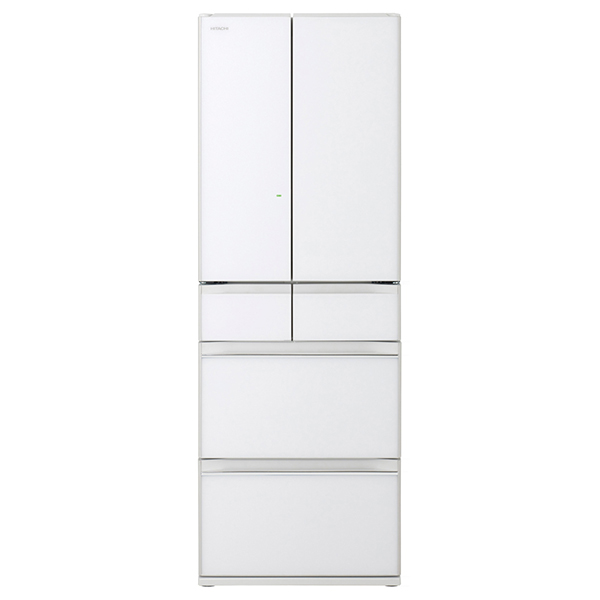 【送料無料】日立 R-HW52J(XW) クリスタルホワイト 真空チルド [冷蔵庫 (520L・フレンチドア)]
