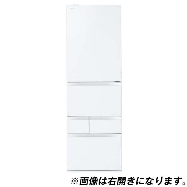 【送料無料】東芝 GR-M470GWL(ZW) クリアシェルホワイト VEGETA GWシリーズ [冷蔵庫 (465L・左開き)]
