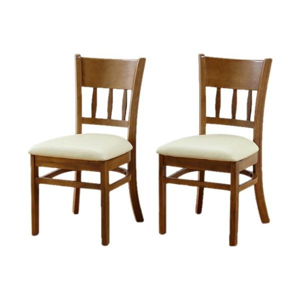 ダイニングチェア 2脚セット 2脚組 チェア チェアー 椅子 イス おしゃれ 食卓 天然木 木製 ライトブラウン【 完成品 】
