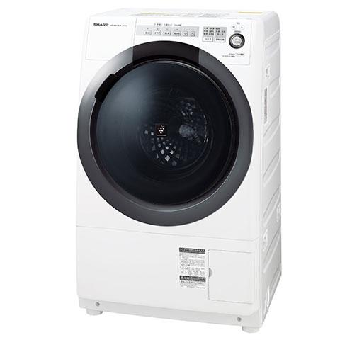 洗濯乾燥機 シャープ(SHARP) ES-S7C-WR ホワイト系 ななめ型ドラム式(洗濯7kg/乾燥3.5kg)右開き 一般的な防水パンに置けるコンパクトドラム 静かで省エネ インバーター制御 4種類のセンサーでムダのない節水お洗濯 【代引き・後払い決済不可】【離島配送不可】