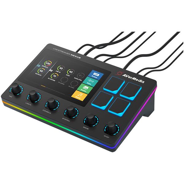 高額売筋 動画配信やゲーム実況などのブロードキャスティングに最適なミキサーを内蔵し 音声ミキサー 今ダケ送料無料 PCコントロールを同時に実現する オールインワンのコントロールセンター AVERMEDIA Stream Live AX310 NEXUS ミキサー内蔵型コントロールセンター