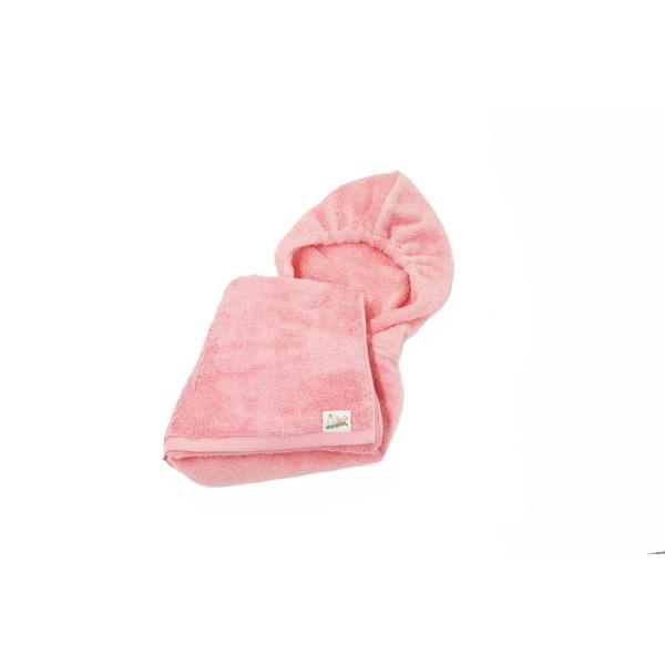 特殊な撚糸工法で創られた繊維 エアーかおる を使用した 子供用おくるみ 乳児には 贈答品 おくるみ 幼児にはポンチョとして長くご使用いただけます ピーチピンク シンプル 子ども用 kurumun お風呂 アンツ 評価 子ども ポンチョ こども 幼児 プール 乳児 オーガニックコットン