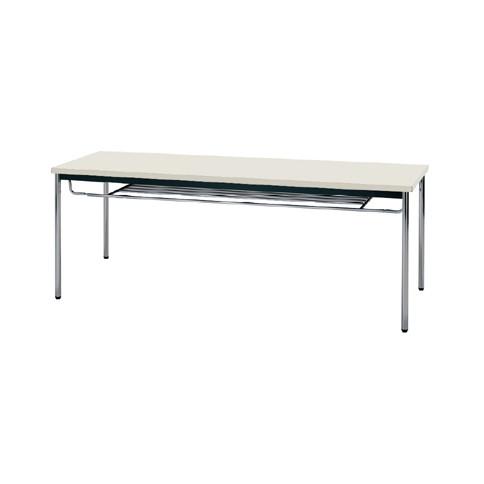 【送料無料】生興 MTS-1860ISG(ニューグレー) テーブル [棚付]【同梱配送不可】【代引き不可】【沖縄・北海道・離島配送不可】