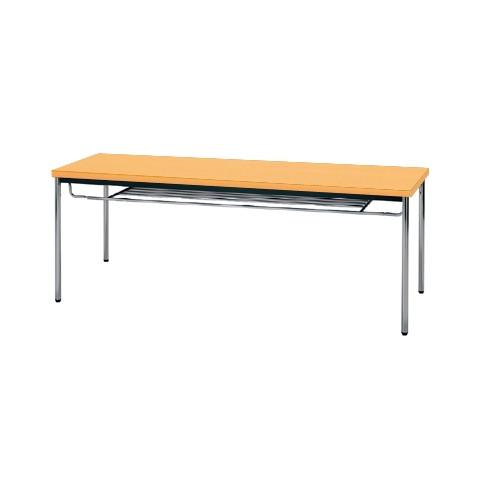 【送料無料】生興 MTS-1860ISP(Pアルダー) テーブル [棚付]【同梱配送不可】【代引き不可】【沖縄・北海道・離島配送不可】