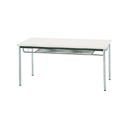 生興 MTS-1575ISW(ホワイト) テーブル [棚付] 【同梱配送不可】【代引き・後払い決済不可】【沖縄・北海道・離島配送不可】