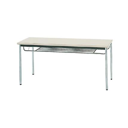 【送料無料】生興 MTS-1560ISG(ニューグレー) テーブル [棚付]【同梱配送不可】【代引き不可】【沖縄・北海道・離島配送不可】