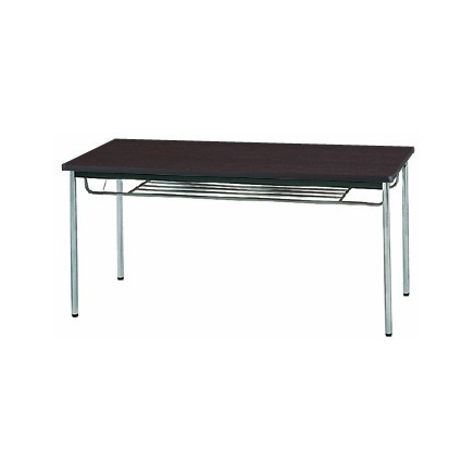 【送料無料】生興 MTS-1575ISD(Dブラウン) テーブル [棚付]【同梱配送不可】【代引き不可】【沖縄・北海道・離島配送不可】