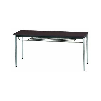 【送料無料】生興 MTS-1545ISD(Dブラウン) テーブル [棚付]【同梱配送不可】【代引き不可】【沖縄・北海道・離島配送不可】